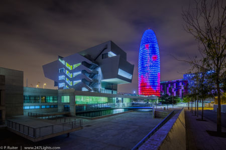 Museu del Disseny and Torre Agbar (Barcelona)